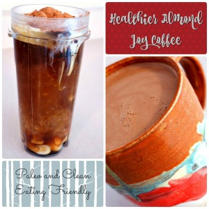 Healthier almond joy coffee - paleo and cleaning eating friendly